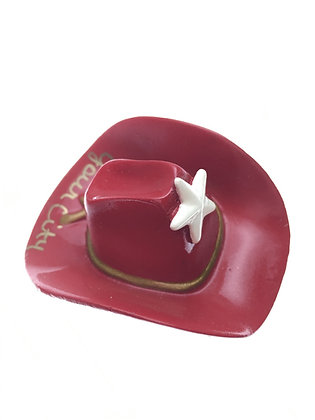 Red Cowboy Hat Magnet