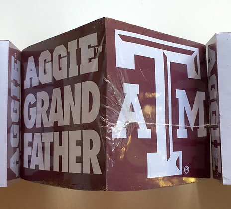 Texas A & M Aggie Grandfather Note Cube