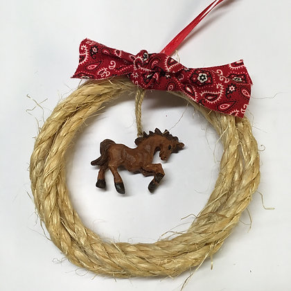 Rope Horse Ornament