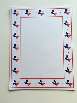 Texas Flag Stationary