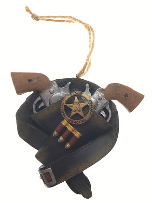 Holstered Ranger Pistols Ornament