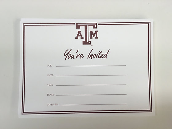 "Texas A & M ""You're Invited"" Invitation"