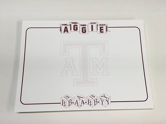 Texas A & M Aggie Baby Shower Invitation