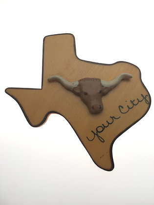 Longhorn on Texas Magnet