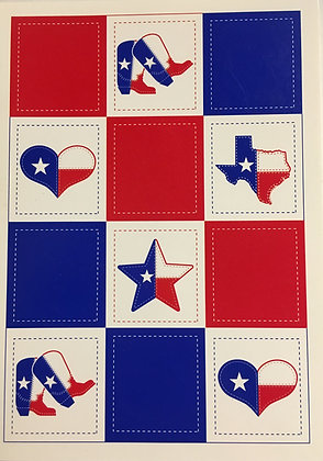 Quilted Texas Blank Card