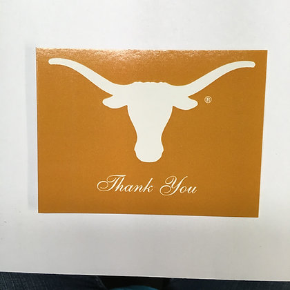 Thank You Notecards UT White on Orange