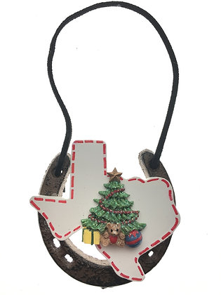 Horseshoe Texas Christmas Tree Ornament