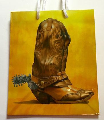Cowboy Boot Gift Bag