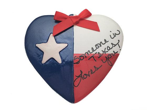 Texas Flag Heart Ornament