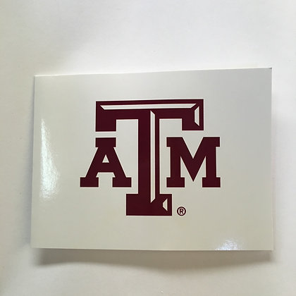 Notecards Texas A & M White