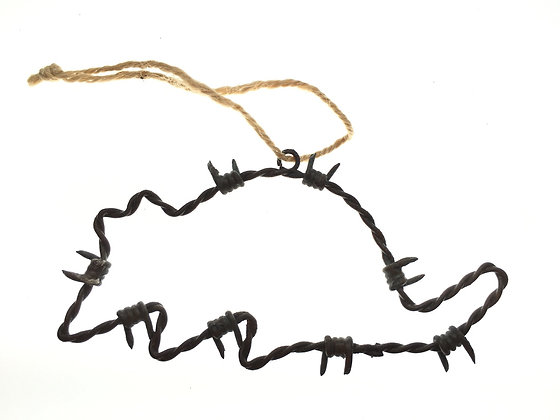 Armadillo Barbed Wire Ornament