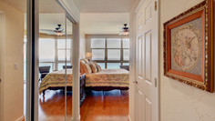 Master bedroom entrance/closets