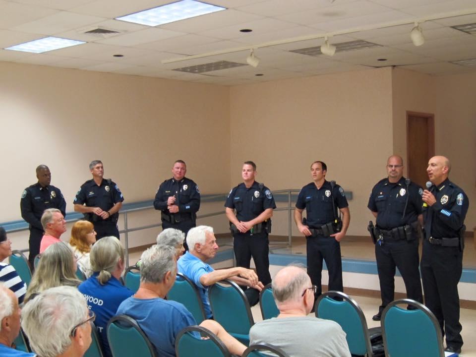 Police at meeting