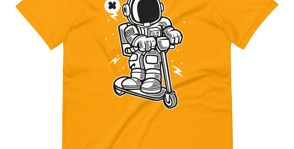 Astronaut Riding Scooter Tee