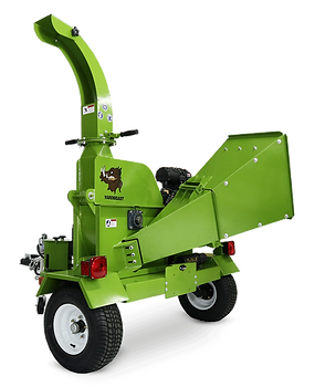 6525 yardbeast commercial wood chipper with highway towable trailer and collapsible chipping chute