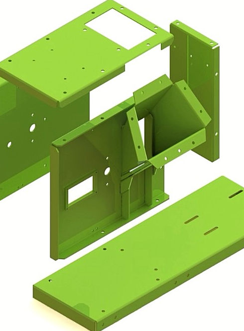 robust and simple solid frame design renders into a super powerful chippin frame, a true beast