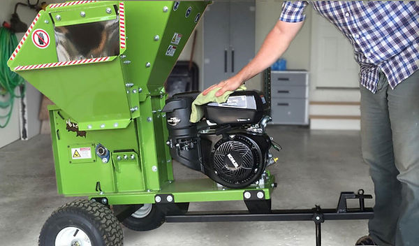 cleaning your wood chipper is good maintenance practice