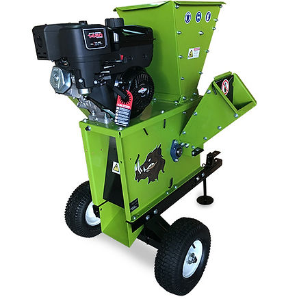 Shown here is the Yardbeast 2050 wood chipper with ATV tow kit