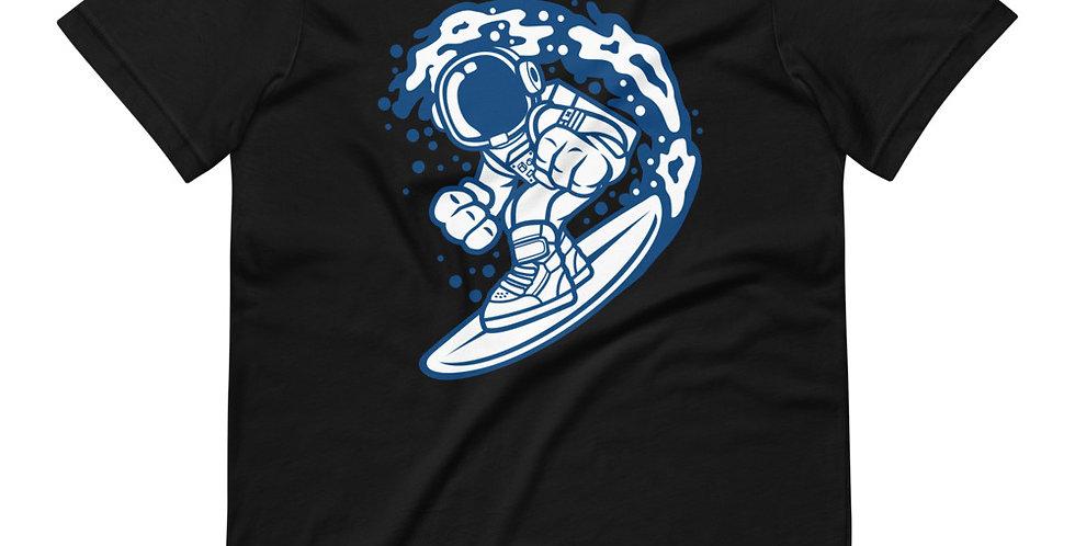 Astronaut Surfing Cartoon Tee