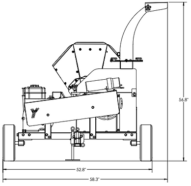 3514 atv chipper back dimensions