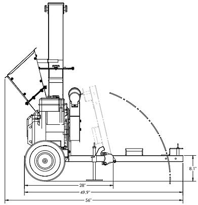 yardbeast 3514 atv wood chipper dimensions