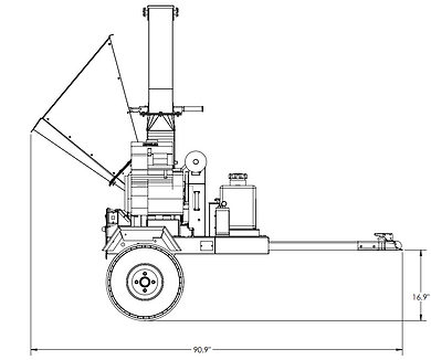 4521 commercial chipper side dimensions