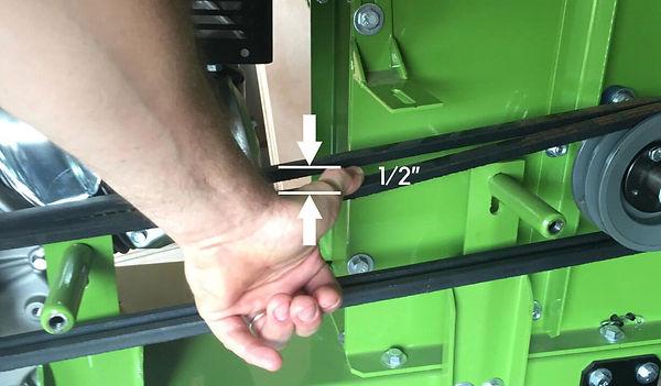 adjusting belt on you wood chipper