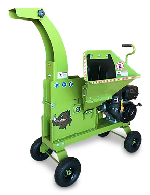 3.5 inch wood chipper with hand towing wagon kit