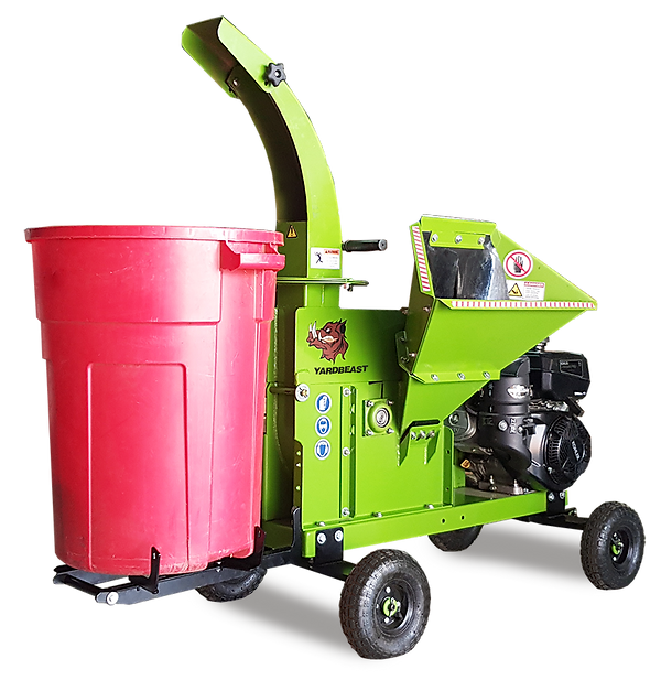 3514 wood chipper with fork bin attachment