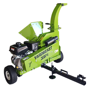 commercial wood chipper with towing setup