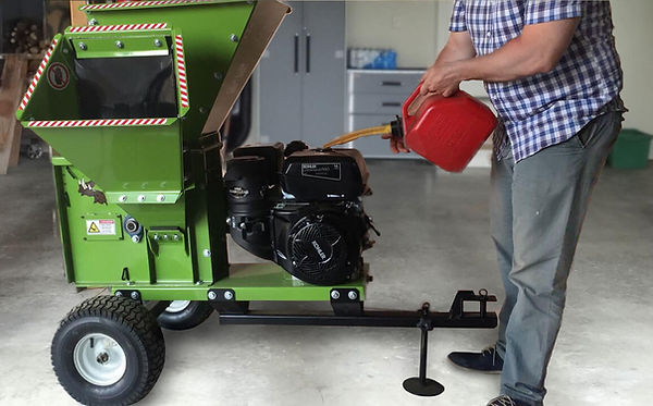 adding fuel to your wood chipper