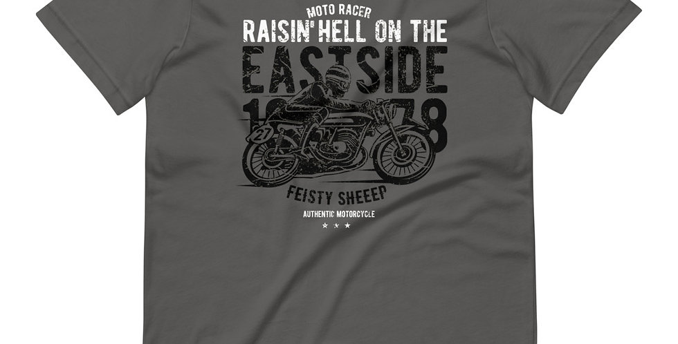 Raisin Hell Moto Racer Tee