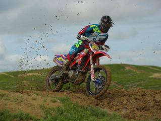 Beta Motorcycle Riders in the Mud