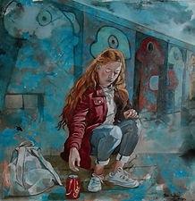 sotto il muro di berlino - 2019 - 80 x 8