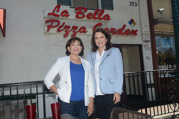 Mary  & Jill La Bella Pizza Garden.JPG