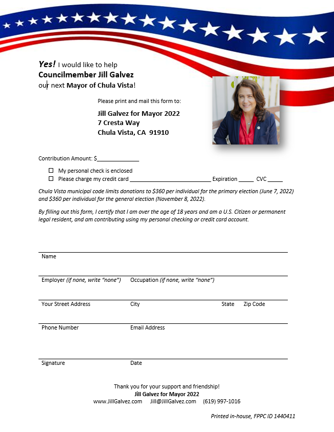 Jill Galvez for Mayor 2022 Donation Form FPPC ID 1440411.PNG