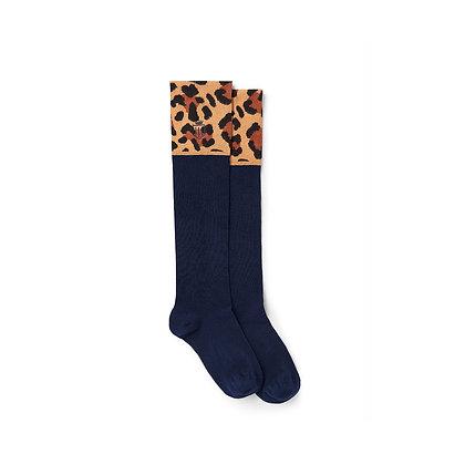 Signature Ladies Knee High Socks (Leopard)