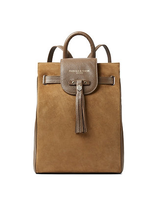 The Windsor Backpack (Tan Suede)