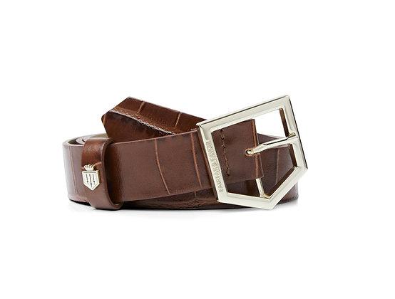 The Sennowe Ladies Leather Belt (Conker Brown)