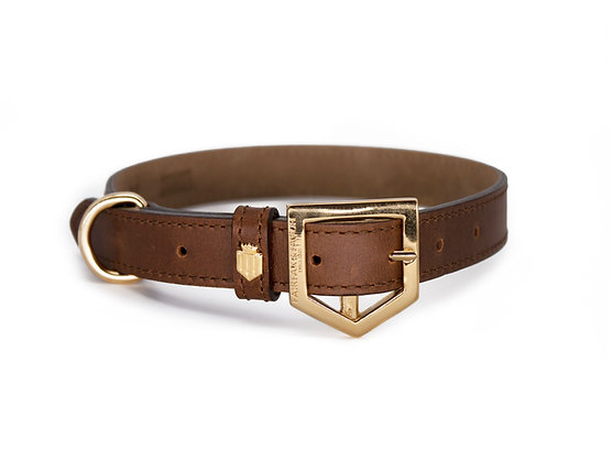 Fairfax & Favor Fitzroy Dog Collar Tan Leather