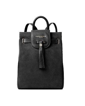 The Windsor Backpack (Black Suede)