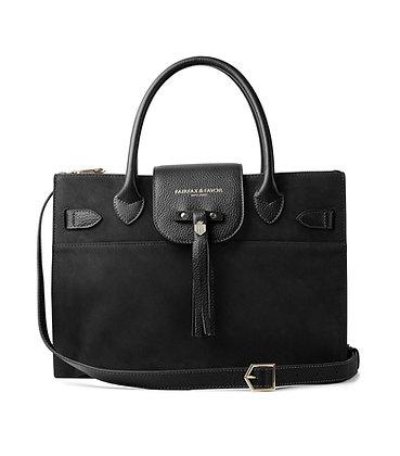 The Windsor Work Bag (Black Suede)
