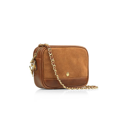 The Madison Mini Bag -Tan suede