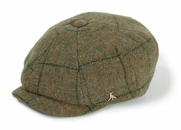 The Felsham Tweed Baker Boy Cap (Green)