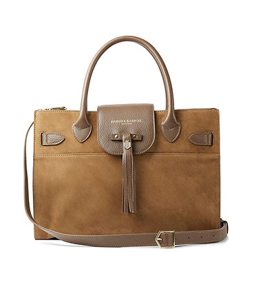 The Windsor Work Bag (Tan Suede)