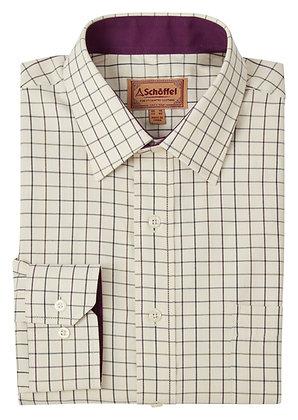 Burnham Tattersall Classic Shirt (Aubergine Check)