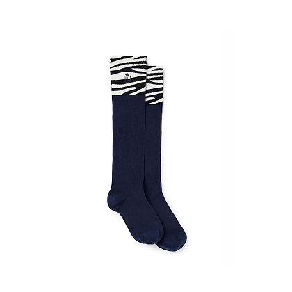 Signature Ladies Knee High Socks (Zebra)