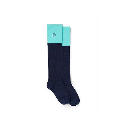 Signature Ladies Knee High Socks (Turquoise)