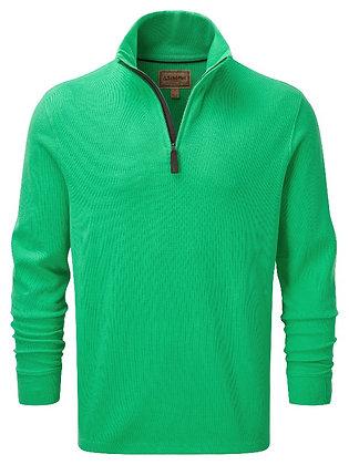 Cotton French Rib ¼ Zip (Mint Green)