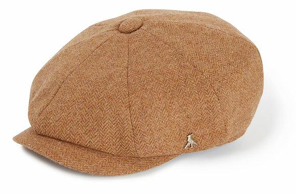 The Felsham Tweed Baker Boy Cap (Russet)